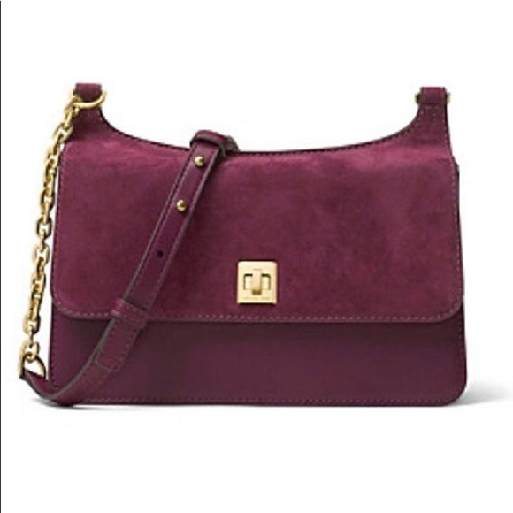 MK Natalie Chain Plum Medium Crossbody